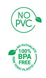 Icone di garanzia - NO PVC - NO BPA